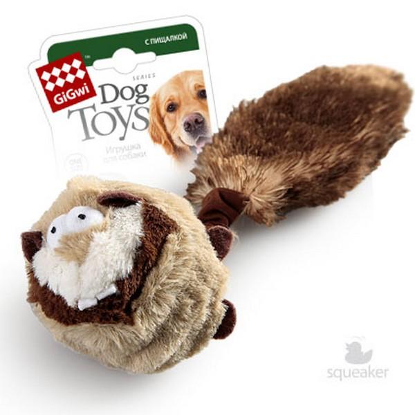 GiGwi Dog Toys / Игрушка Гигви для собак Барсук с 2-мя пищалками Внутри теннисный мяч с пищалкой