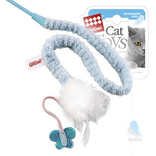 GiGwi Cat Toys / Игрушка Гигви для кошек Дразнилка на стеке с пером