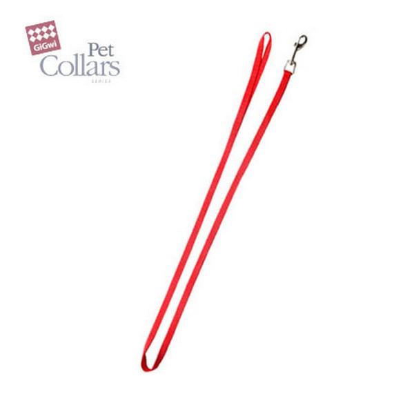 GiGwi Pet Collars / Поводок Гигви для больших собак нейлон Красный