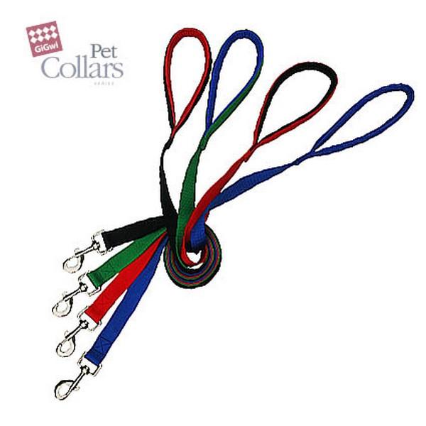 GiGwi Pet Collars / Поводок Гигви с Мягкой ручкой для больших собак нейлон Черный