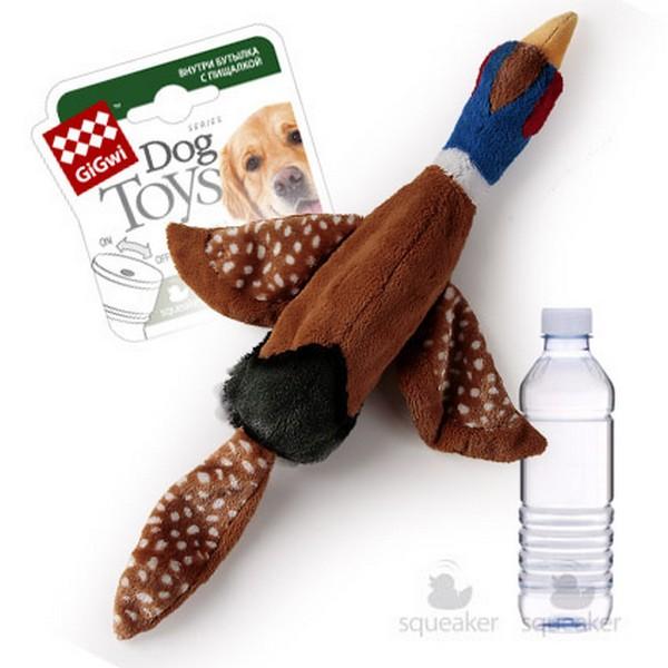 GiGwi Dog Toys / Игрушка Гигви для собак Птица с пищалкой и пластиковая бутылка с отключаемой пищалкой