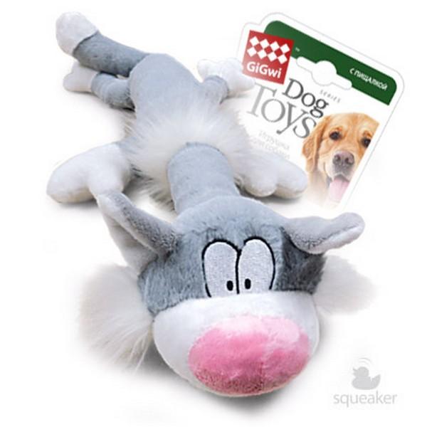 GiGwi Dog Toys / Игрушка Гигви для собак Кот с большой пищалкой