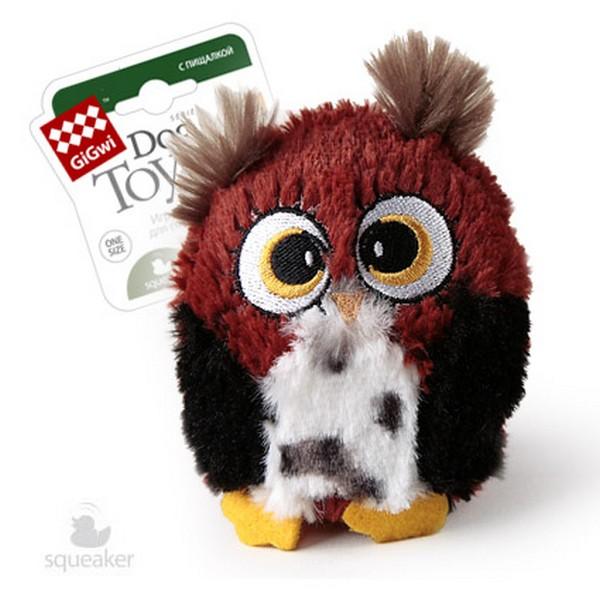 GiGwi Dog Toys / Игрушка Гигви для собак Сова с большой пищалкой