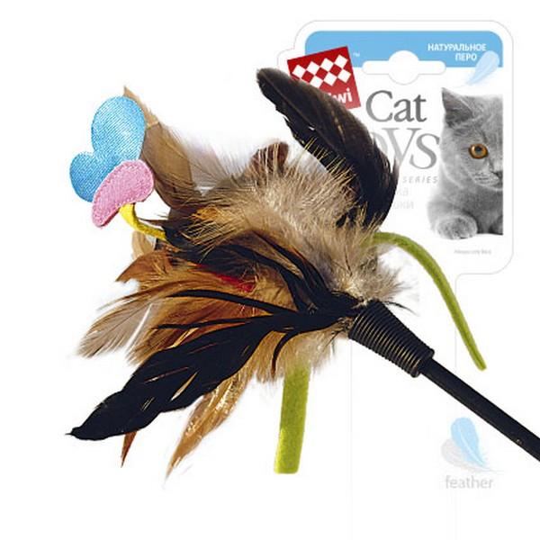 GiGwi Cat Toys / Игрушка Гигви для кошек Дразнилка на стеке с Бабочкой