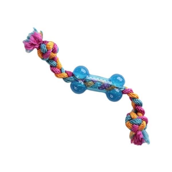 GiGwi Dog Toys / Игрушка Гигви для собак Маленькая косточка на веревке