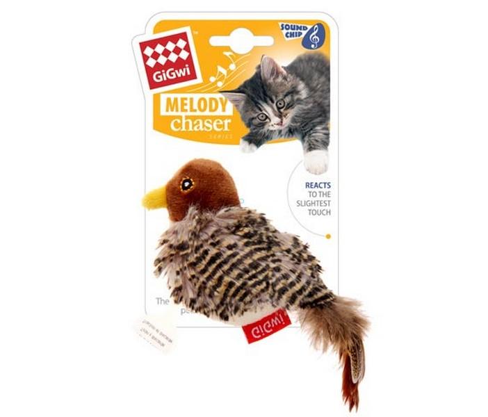 GiGwi Cat Melody chaser / Игрушка Гигви для кошек Птичка со звуковым чипом