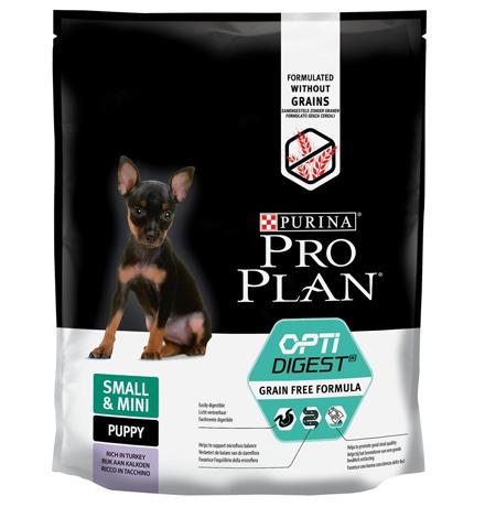 Purina Pro Plan Small & Mini Puppy OptiDigect Grain free / Сухой Беззерновой корм Пурина Про План для Щенков Мелких и карликовых пород с Чувствительным пищеварением Индейка