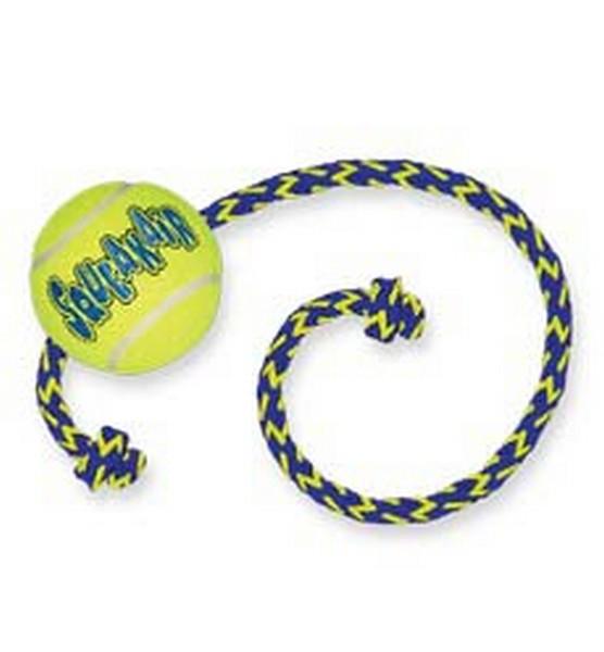 Kong Air Dog / Игрушка Конг для собак Теннисный мяч с Канатом
