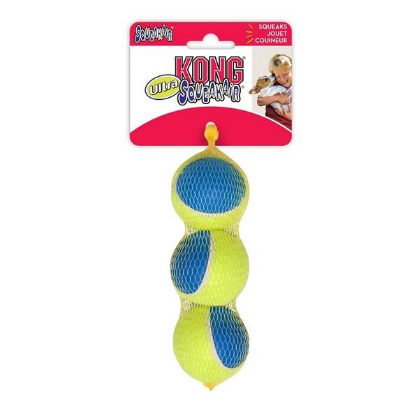 Kong Ultra Squeak / Игрушка Конг для собак Мячик Средний 3шт