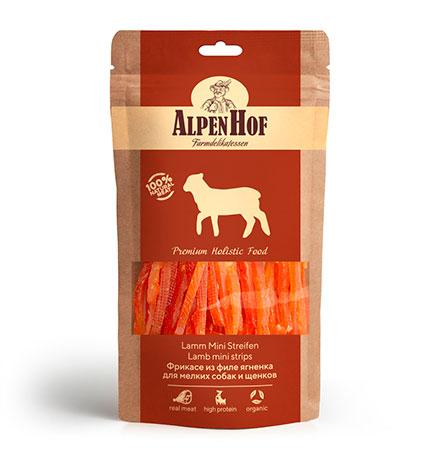 AlpenHof Lumb Mini Strips / Лакомство Альпенхоф для Щенков и Мелких собак Фрикасе из филе Ягненка