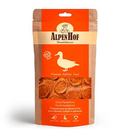 AlpenHof Duck Chicken medallions / Лакомство Альпенхоф для Щенков и Мелких собак Медальоны из филе Утки