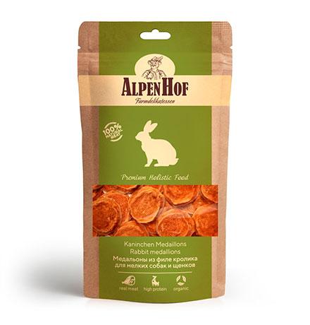 AlpenHof Rabbit medallions / Лакомство Альпенхоф для Щенков и Мелких собак Медальоны из филе Кролика