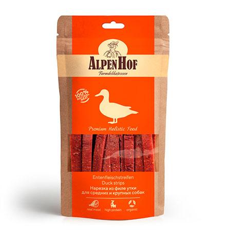 AlpenHof Duck strips / Лакомство Альпенхоф для Средних и Крупных собак Нарезка из филе Утки