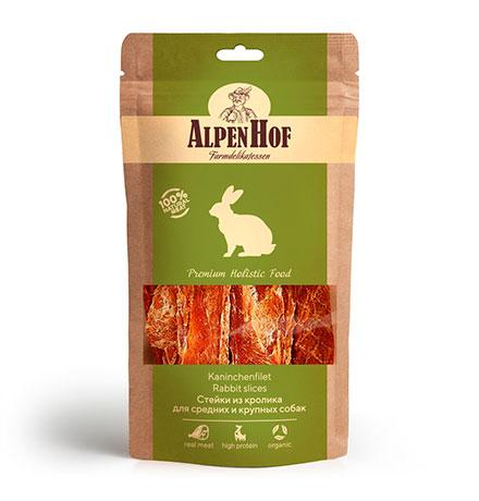 AlpenHof Rabbit slices / Лакомство Альпенхоф для Средних и Крупных собак Стейк из Кролика