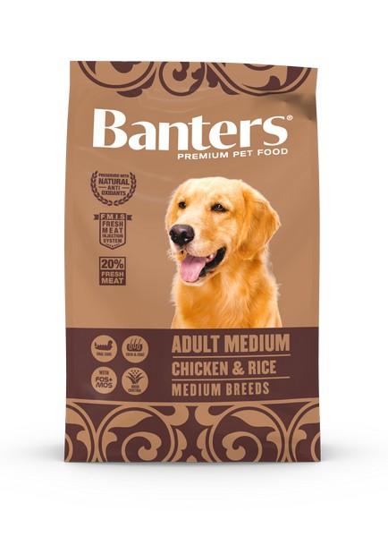 Banters Adult Medium Chicken & Rice / Сухой корм Бантерс для взрослых собак Средних пород (11-25 кг) от 12 месяцев до 10 лет Курица рис