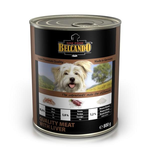Belcando Meat with Liver / Консервы Белькандо для собак Мясо с печенью (цена за упаковку)