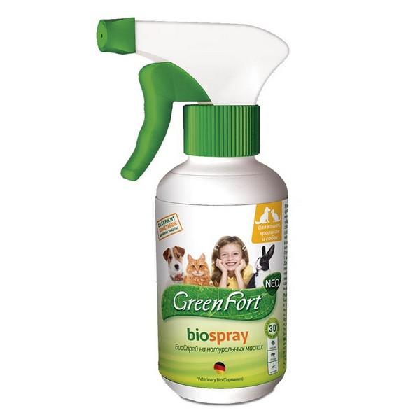 Green Fort Neo Biospray / БиоСпрей Грин Форт Нео от Блох и Клещей для Кошек Кроликов и Собак