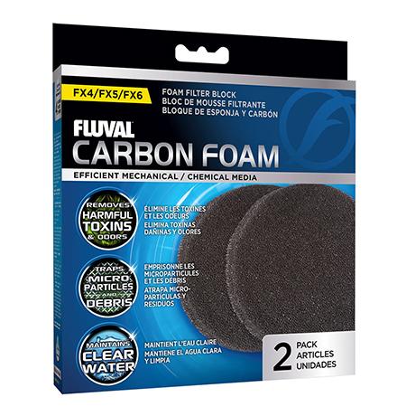 Fluval FX4/FX5/FX6 / Губка Флювал для фильтров Угольная для фильтров