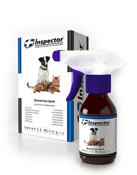 Inspector / Cпрей Инспектор против Внешних и Внутренних паразитов для кошек и собак