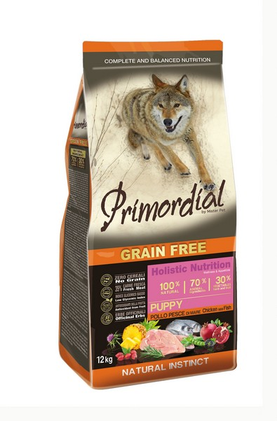 Primordial Puppy Grain Free Holistic / Сухой корм Примордиал Беззерновой для Щенков Курица Рыба