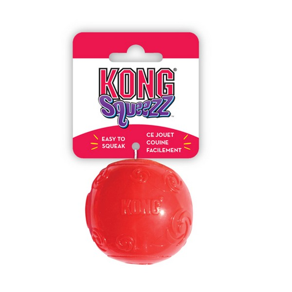 Kong Squeezz / Игрушка Конг для собак Мячик с пищалкой Резиновый