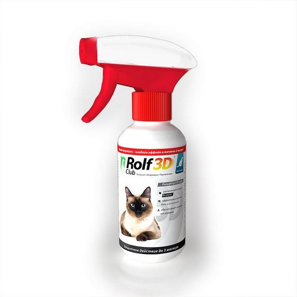 Rolf Club 3D / Спрей Рольф Клуб от Клещей и Блох для кошек