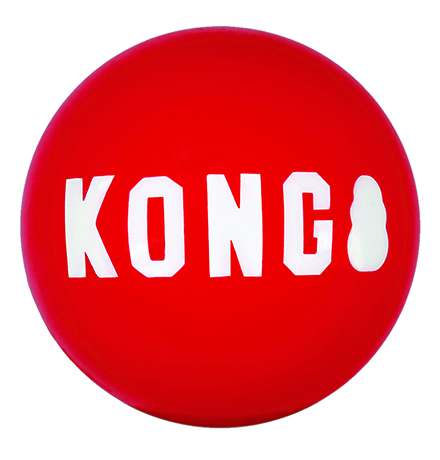 Kong Signature Medium / Игрушка Конг для собак Мячик