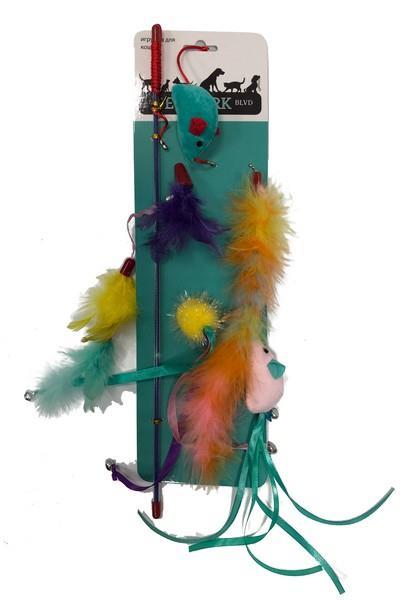 Aromadog Petpark / Игрушка Петпак для кошек Дразнилка Мышки со Сменными наконечниками