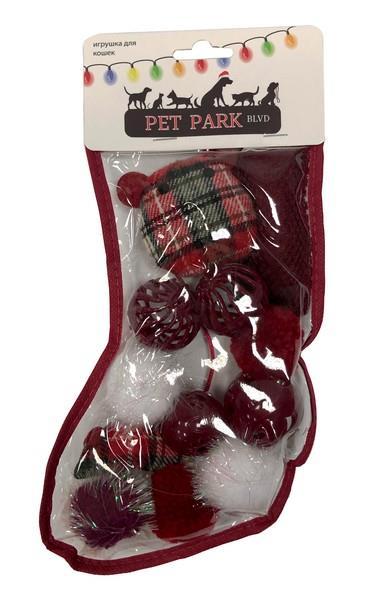 Aromadog Petpark Christmas / Игрушка Петпак для кошек Подарочный чулок 1х12шт