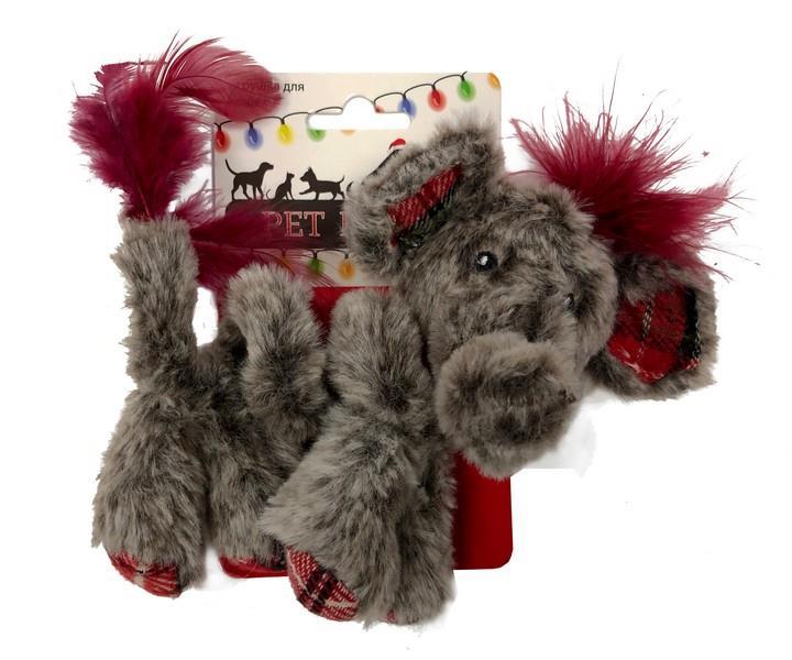 Aromadog Petpark Christmas / Игрушка Петпак для кошек Кудрявый слон
