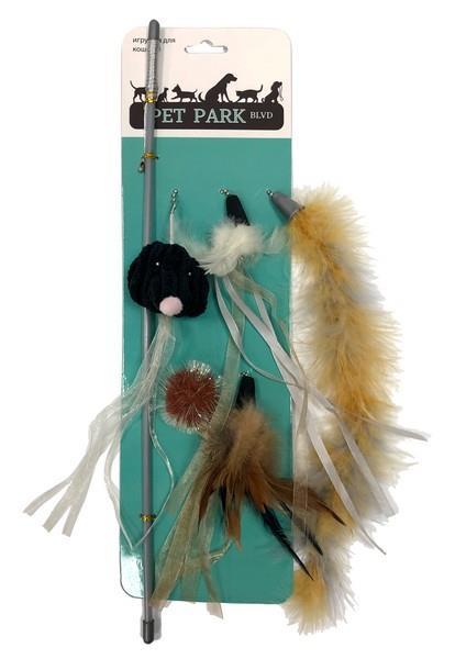 Aromadog Petpark / Игрушка Петпак для кошек Дразнилка со Cменными кисточками