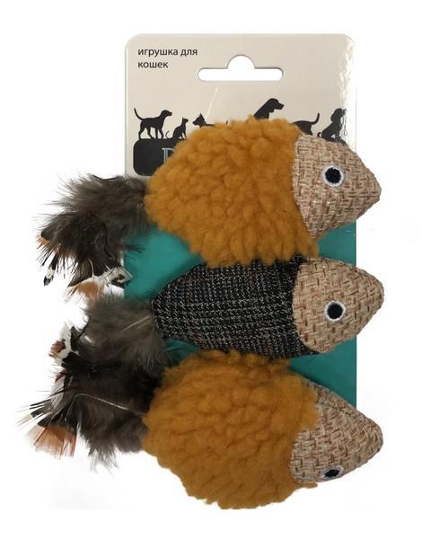 Aromadog Petpark / Игрушка Петпак для кошек Рыбки 1х3шт