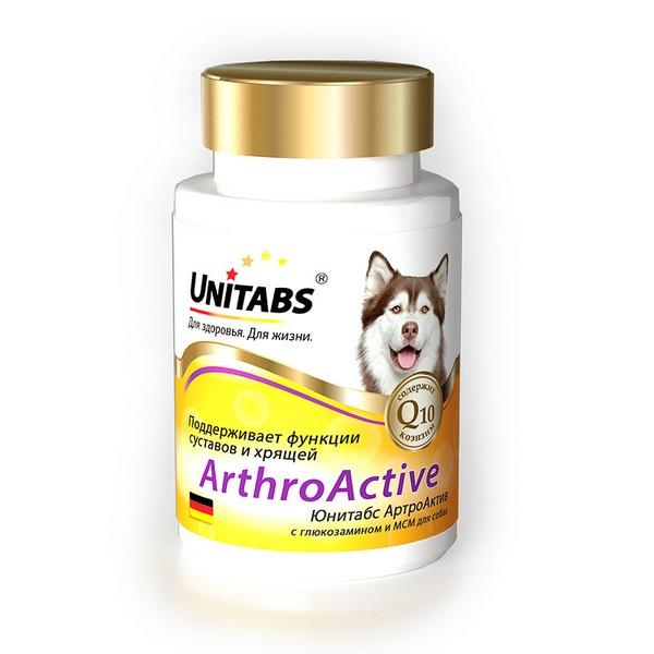 Unitabs ArthroActive c Q10 / Витаминно-минеральный комплекс Юнитабс для собак при болезнях Суставов