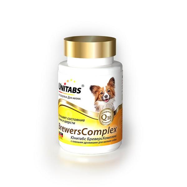 Unitabs BreversComplex с Q10 / Витаминно-минеральный комплекс Юнитабс для Мелких собак с Пивными дрожжами