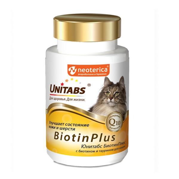 Unitabs BiotinPlus с Q10 / Витаминно-минеральный комплекс Юнитабс для кошек с Биотином и Таурином