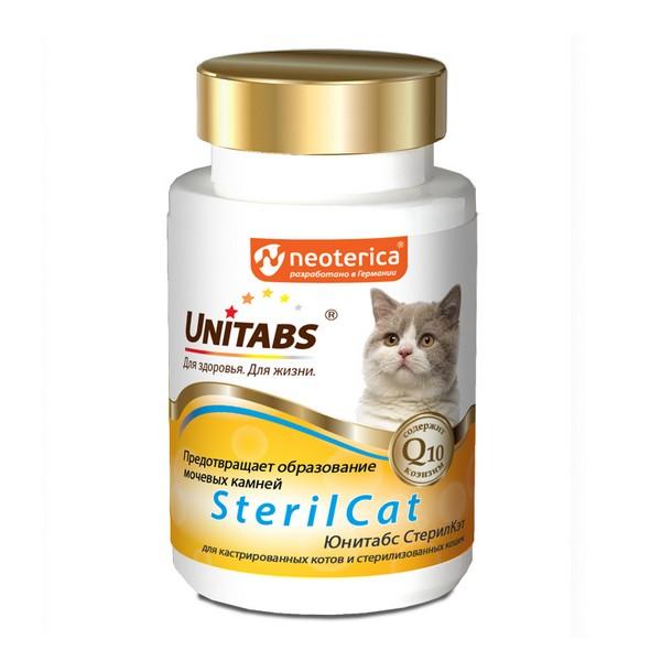 Unitabs SterilCat с Q10 / Витаминно-минеральный комплекс Юнитабс для Кастрированных котов и Стерилизованных кошек