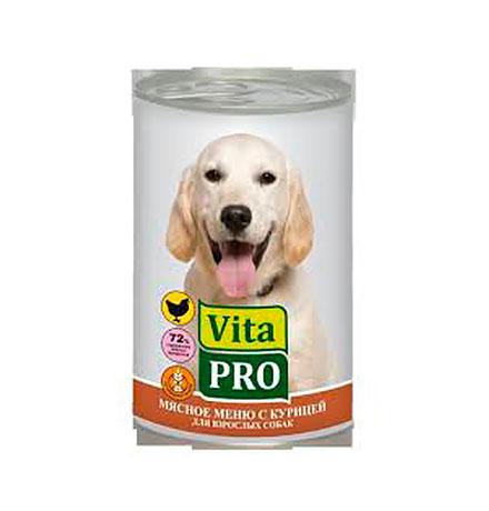 Vita Pro / Консервы Вита Про для собак от 1 года Курица (цена за упаковку)