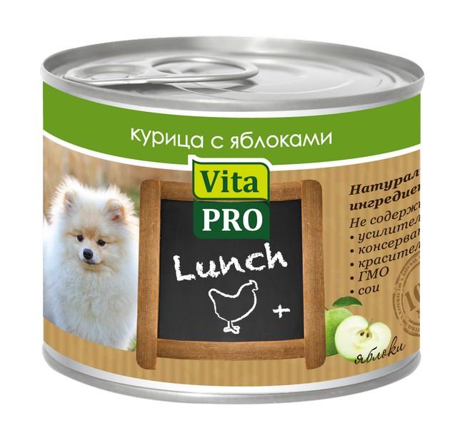 Vita Pro Lunch / Консервы Вита Про для собак Курица Яблоки (цена за упаковку)