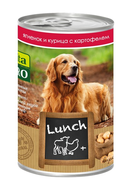 Vita Pro Lunch / Консервы Вита Про для собак Ягненок Курица Картофель (цена за упаковку)