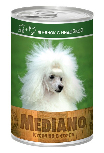 Vita Pro Mediano / Консервы Вита Про для собак Ягненок Индейка кусочки в Соусе (цена за упаковку)