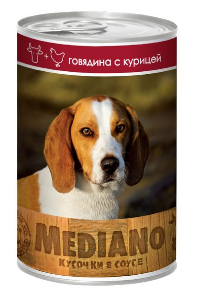 Vita Pro Mediano / Консервы Вита Про для собак Говядина Курица кусочки в Соусе (цена за упаковку)