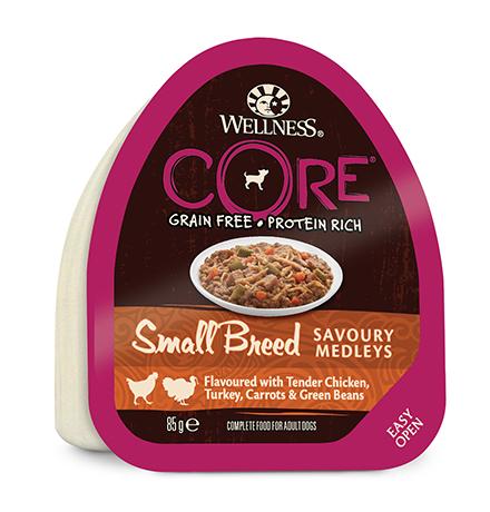 Wellness Core Dog Small Breed Savoury Medleys Chicken Turkey / Консервы Велнес Кор для собак Мелких пород Куриное филе с Индейкой Морковью и Зеленой фасолью (цена за упаковку)