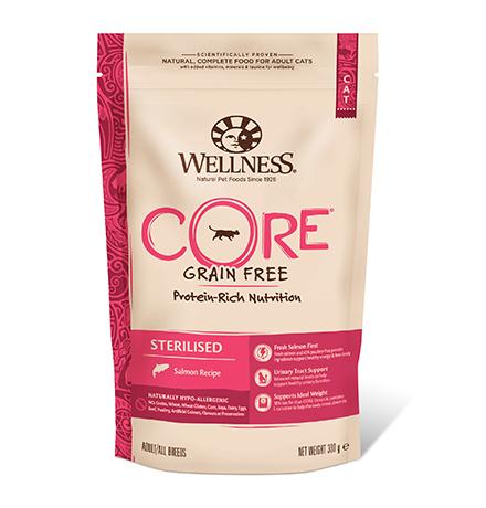 Wellness Core Cat Sterilised Grain free Salmon / Сухой Беззерновой корм Велнес Кор для Стерилизованных кошек и котов Лосось