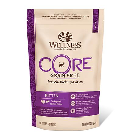 Wellness Core Kitten Grain free Turkey Salmon / Сухой Беззерновой корм Велнес Кор для Котят Индейка с Лососем