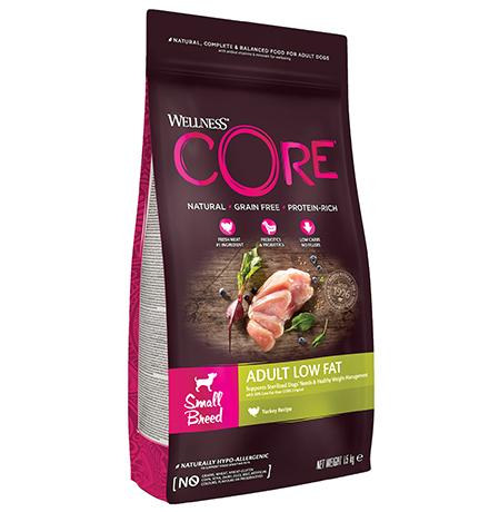 Wellness Core Adult Small Breed Low Fat Grain free Turkey / Сухой Беззерновой корм Велнес Кор для собак Мелких пород Низкокалорийный Индейка