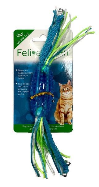 Aromadog Feline Clean Dental / Игрушка Фелин Клин для кошек Конфетка прорезыватель с лентами Резина