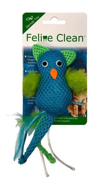 Aromadog Feline Clean Dental / Игрушка Фелин Клин для кошек Сова хвост с перьями