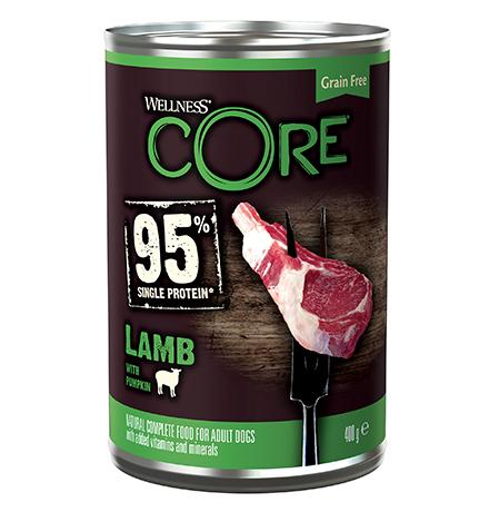 Wellness Core 95 Adult Lamb Pumpkin / Консервы Велнес Кор для взрослых собак Ягненок тыква (цена за упаковку)