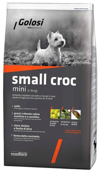 Golosi Small Croc Mini / Сухой корм Голоси для собак Мелких пород Курица рис