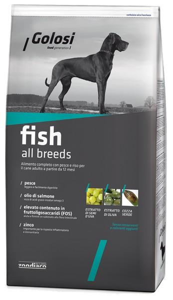 Golosi Fish All breeds / Сухой корм Голоси для собак всех пород Рыба рис